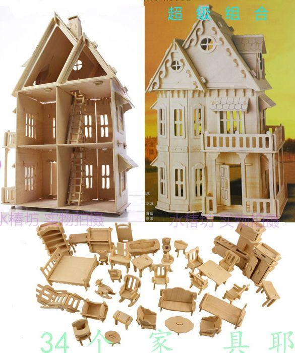 Las 25 mejores ideas sobre casa de mu ecas de madera en for Muebles de juguete en madera