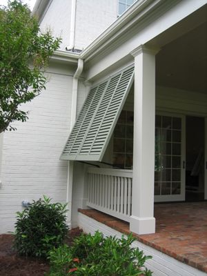 Shutters provide privacypo