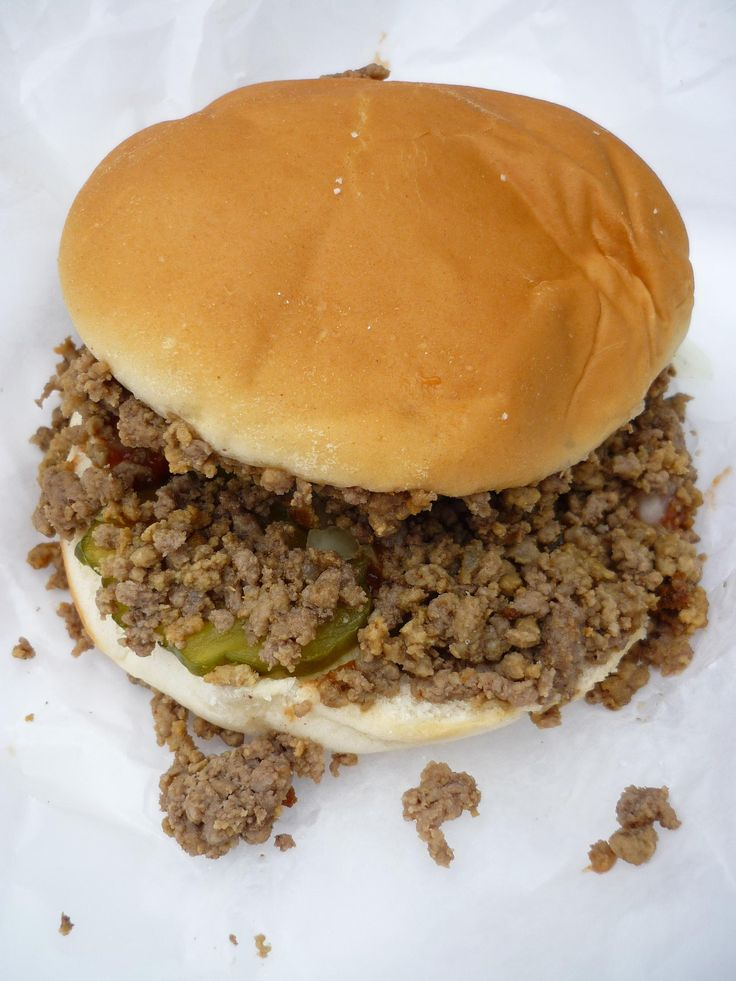 For the main course this week, we had a Nebraska favorite: Beefburgers.  This isn't the exact recipe, but it's pretty close.