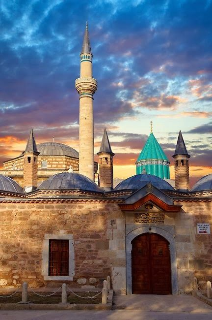 Dervish Lodges - Konya, Turkey...Does the sky really look this beautiful there? #konyahereicome! www.annjaneliving.com
