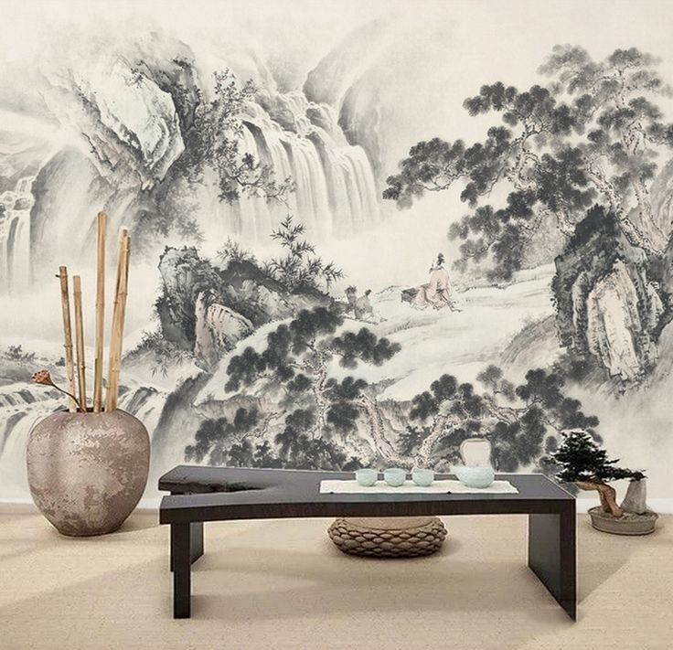 les 16 meilleures images du tableau d coration murale zen en noir et blanc papier peint. Black Bedroom Furniture Sets. Home Design Ideas