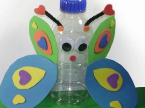 Butterfly from waste bottle #waste #management, #art & #craft from #waste #materials