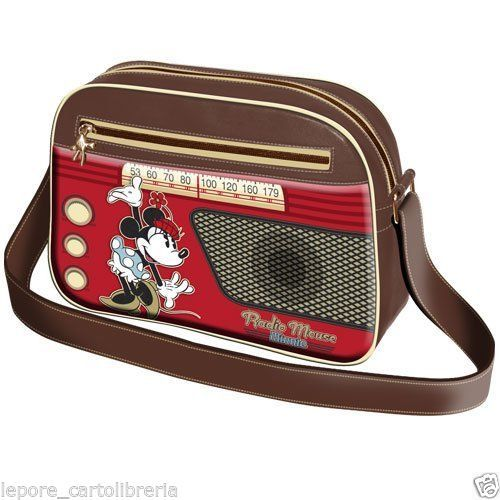 Borsa tracolla MINNIE RADIO MOUSE ecopelle - DISNEY