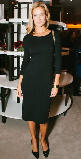 LBD- Carolyn Murphy at a party in honor of Vogue: In the Editor's Eye at Barneys in New York.