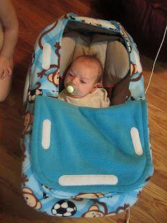 DIY infant car seat cover