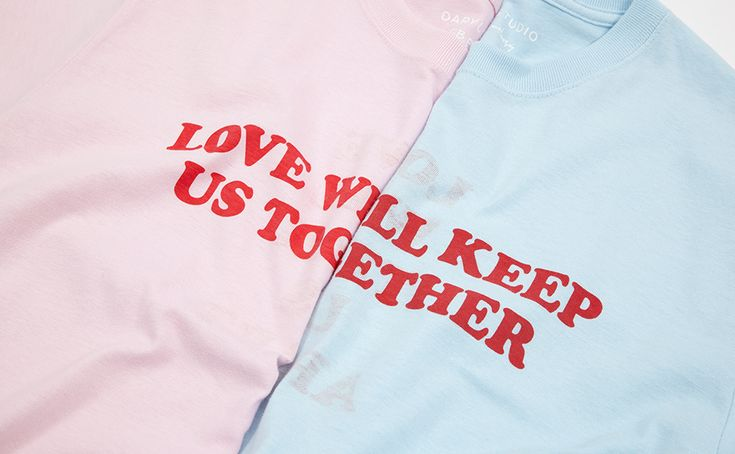 GOT THE T-SHIRT -  This season Daryl Saunders sorted the ultimate Valentines gift in the form of his now iconic Love Will t-shirt in two pastel colourways.