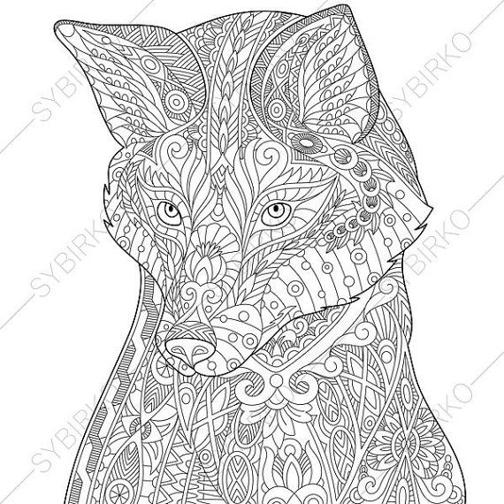 free red fox coloring pages - photo#35