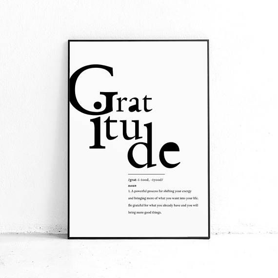 Printable Gratitude Art Print Thank You Wall Art Grateful Etsy Grateful Wall Art Art Prints Thankful Sign