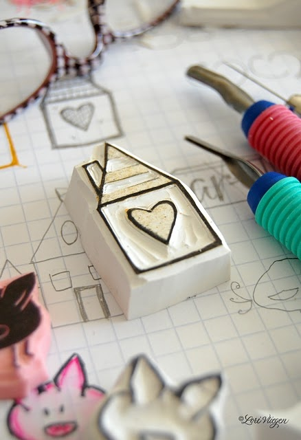 where the heart is. OMGosh! I adore this new stamp created by Lori Vliegen at Elvie Studio