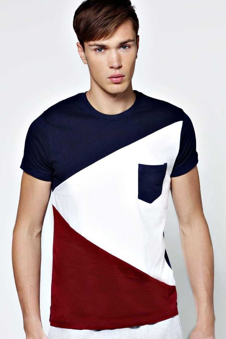 #FashionVault #boohoo #Men #Tops - Check this : boohoo Spliced Colour Block T Shirt - navy for $ USD
