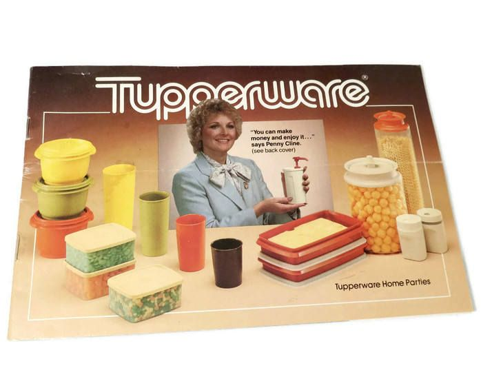 Vintage Tupperware Catalog - 1980s Tupperware Brochure, 43 page home party price list, Career Opportunities by Duckwells on Etsy