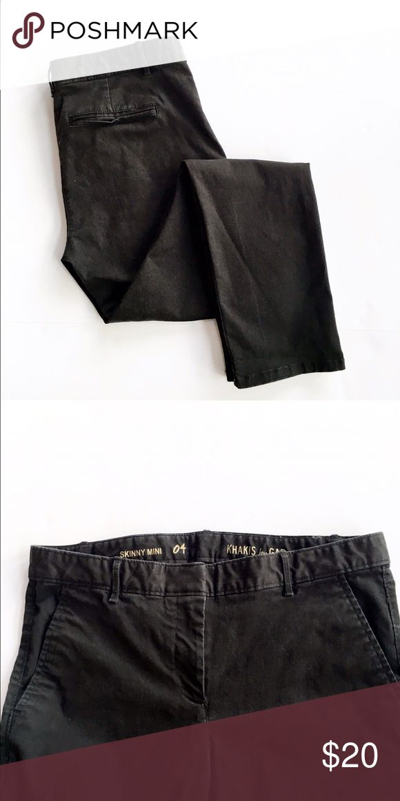 Gap skinny black khakis Skinny leg black khaki pants from the Gap, size 4. Excellent condition. GAP Pants Skinny