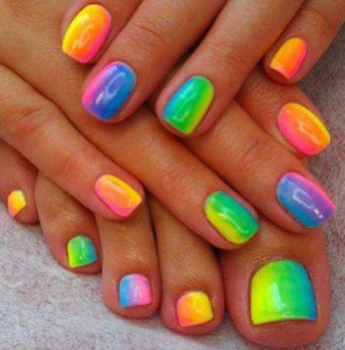 Rainbow nails :)