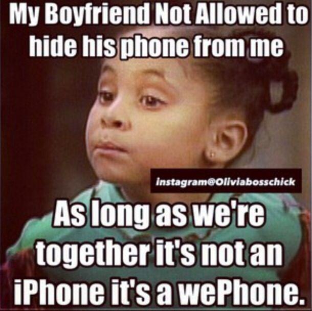 It's not an iPhone, it's a we-phone. instagram@Oliviabosschick - Raven Symone meme