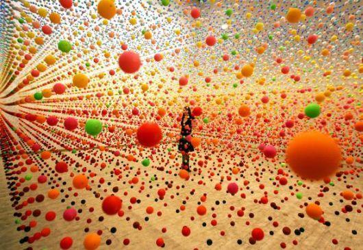 The installation artwork of Nike Savvas.