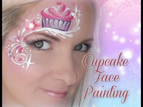 Cute CUPCAKE Face Painting Tutorial Design - YouTube