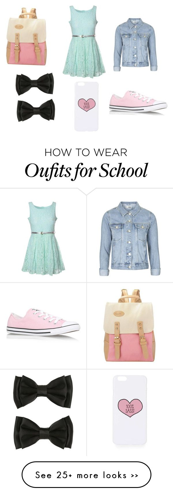 """Back to school 2015"" by amber-de-bleeckere on Polyvore featuring Glamorous, Topshop and Converse"