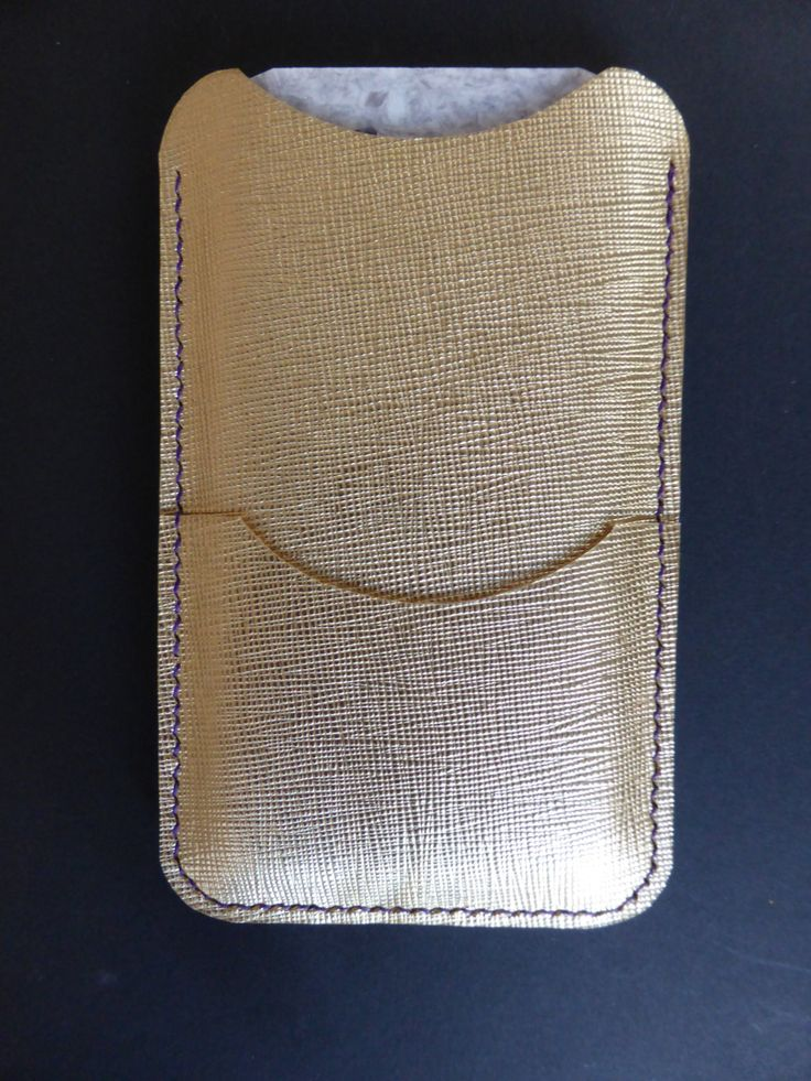 Gold saffiano leather iphone 6/7 case hand made by YoudsLeather on Etsy