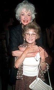 bea arthur and estelle getty opening night of bermuda avenue triangle at the tiffany theater. Black Bedroom Furniture Sets. Home Design Ideas