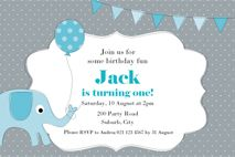 Blue Elephant Birthday Party Printables.