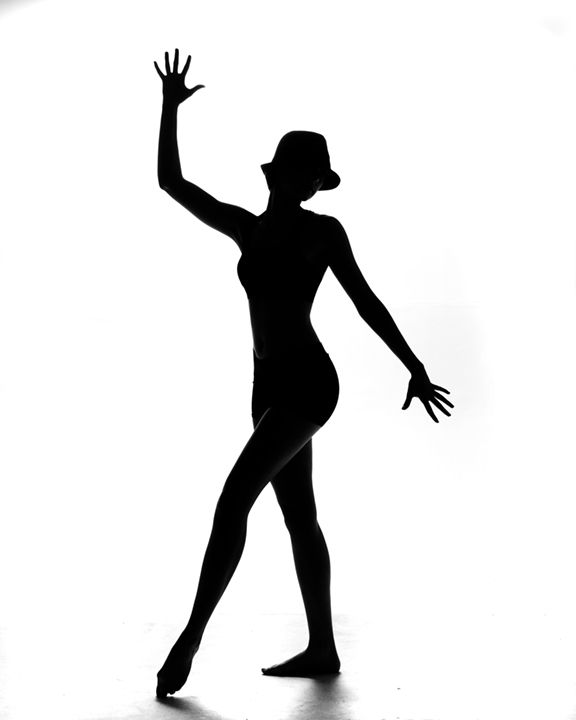 A shadow of a Broadway or Jazz dancer
