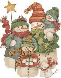 cute snow family