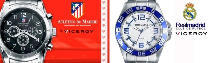 Relojes del #RealMadrid y #AtléticodeMadrid en http://www.roselin.es