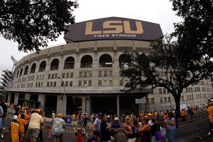 LSU Tigers Stadium - The outside of Tiger Stadium is designed to look like the Roman Colosseum