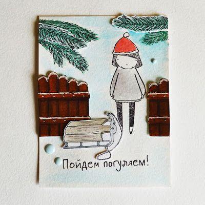 ПИТЕРСКИЙ СКРАПКЛУБ: Зимние открытки