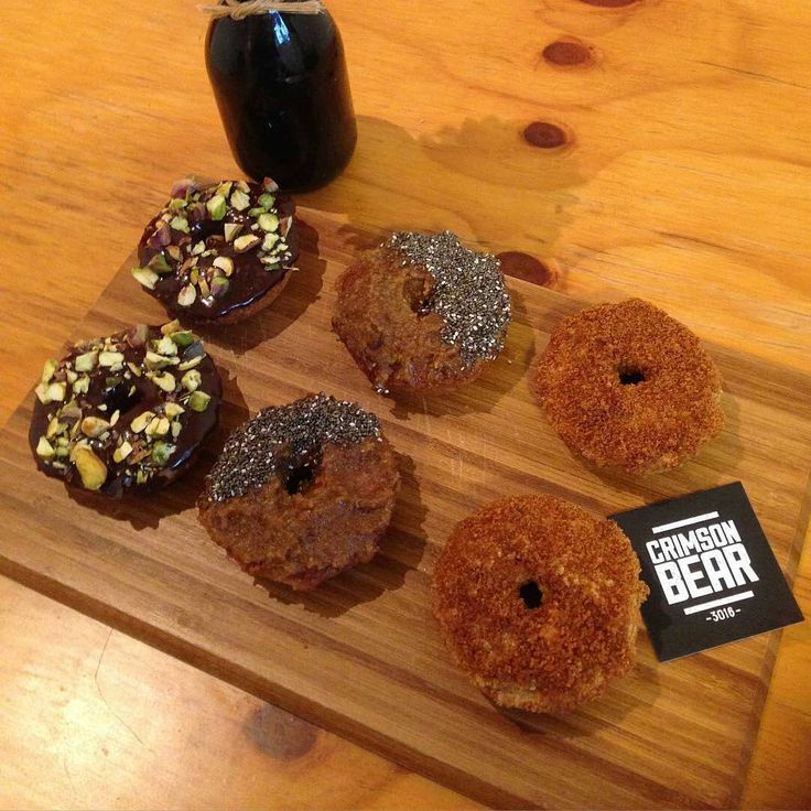 Paleo donuts! Healthy donuts (guilt free!!) at Crimson Bear in Williamstown, Melbourne - gluten free, grain free, dairy free, refined sugar free and vegan!