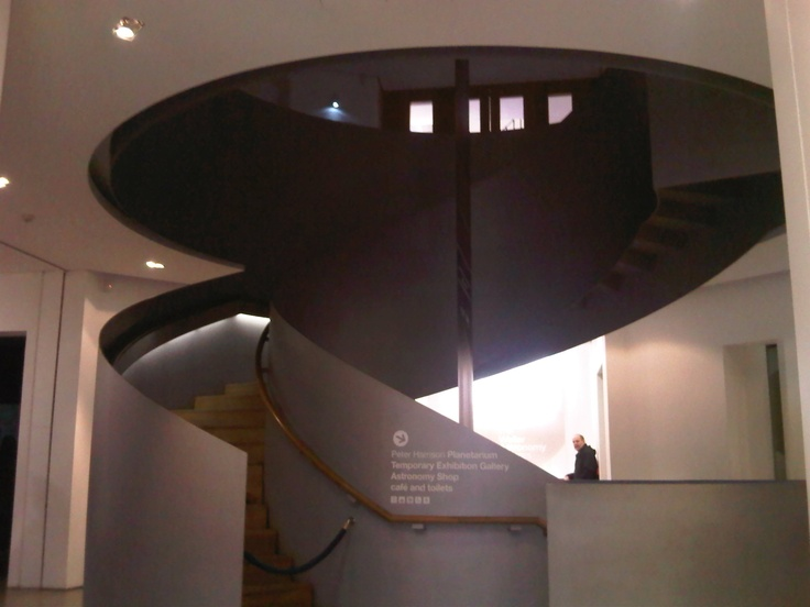Steel Staircase In The Planetarium, Greenwich, London
