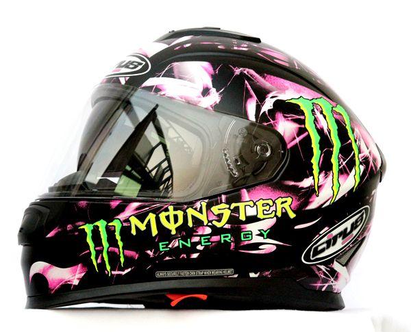 Monster Energy Motorcycle Helmet Decals Best Helmet - Custom motorcycle helmet decals