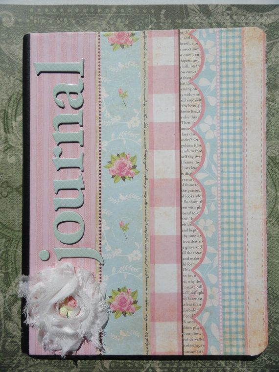 Shabby Chic Journal Altered Composition Notebook by PaperKind, $8.00