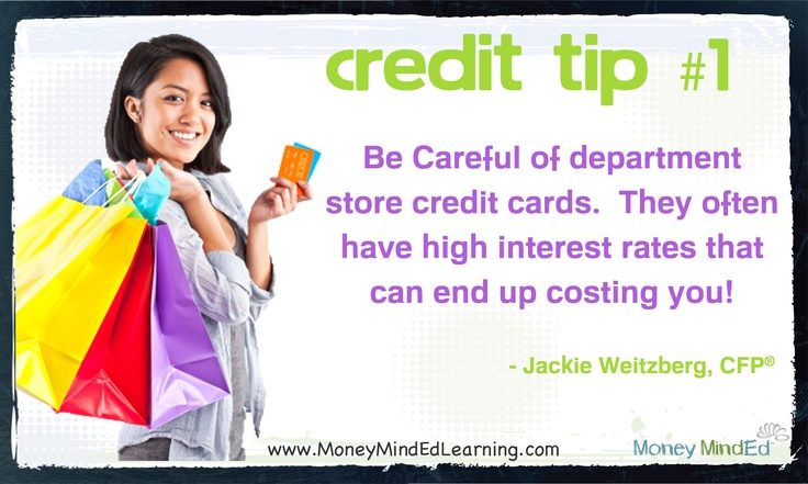Credit Tip: Be wary of department store credit cards