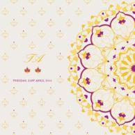 Wedding cards Very Dainty Rangoli Royal Purple