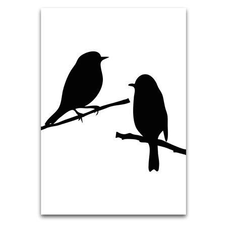 silhouet vogels / silhouet birds