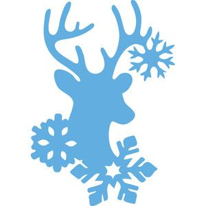 Silhouette Design Store: snowflake deer
