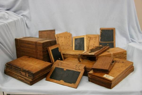 Collection of wax tablets of the town of Torun (Poland).