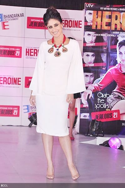 Kareena Kapoor walks the ramp during a fashion show for Jealous 21 collection, held in Mumbai.