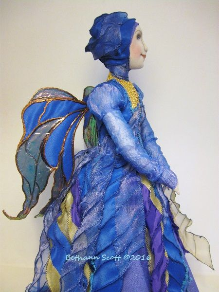 Cloth Angel Doll by Bethann Scott ©2016 The Stitch Fiddler