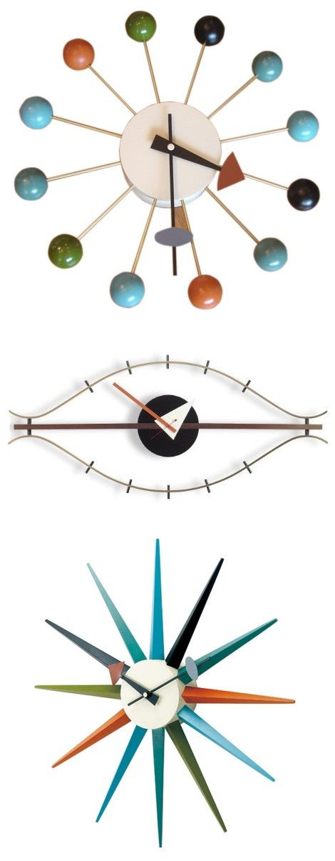 George Nelson Designed Antique Retro Wall Clock(All Nelson Series Available), includes MLF® Nelson Ball Clock, Eye Clock and Sunburst Clock. Get one from usmlf.com! ღ