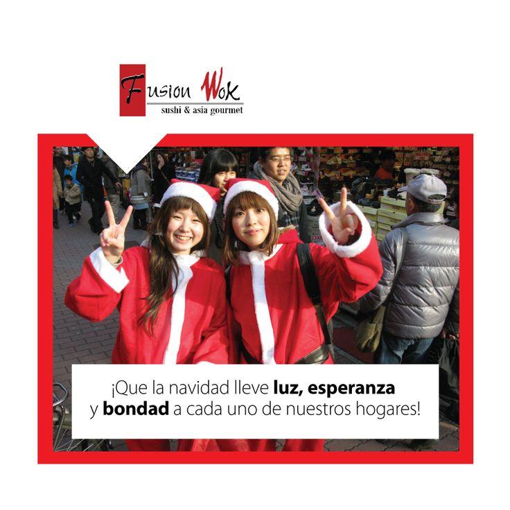 ¡Feliz Navidad les desea Fusion Wok! #fusionwok #navidad #diciembre #familia #love #amor #esperanza #añonuevo #happyday #day #amigos #friends #ternura #children #kids #felicidad #happy