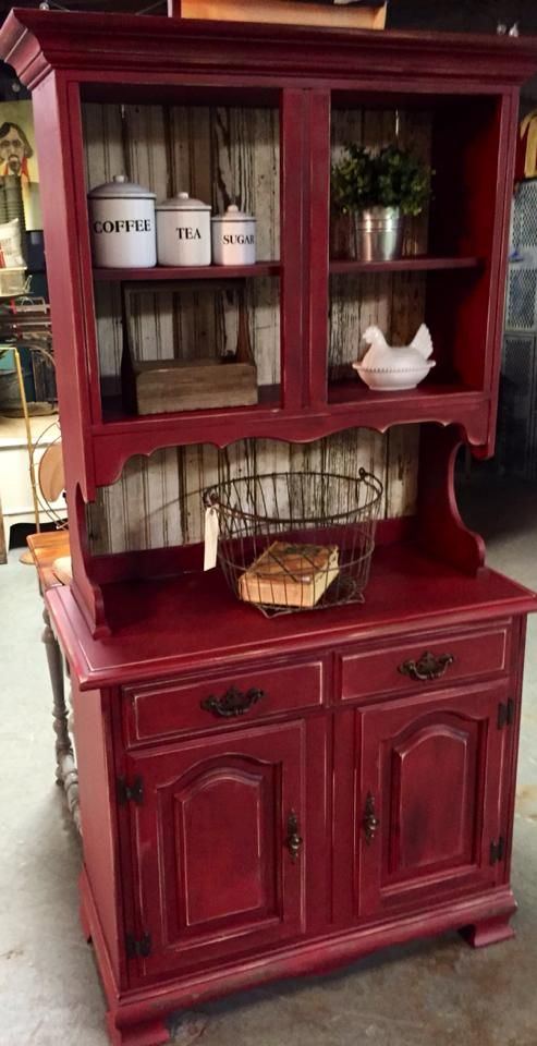 My favorite red hutch of all time. - Best 25+ Antique Hutch Ideas On Pinterest Country Hutch