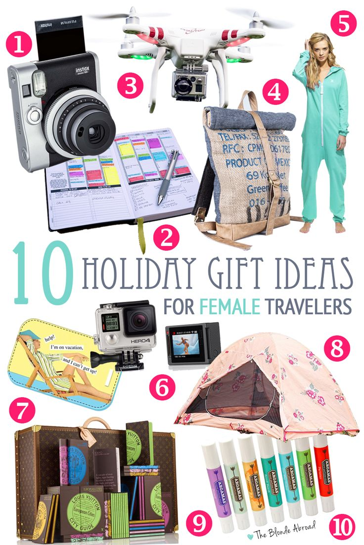 These 10 holiday gift ideas for female travelers will help you shop for that special lady with wanderlust in your life!     1. Fujifilm Instax Mini 90    There's something magical about instant cameras. Living in