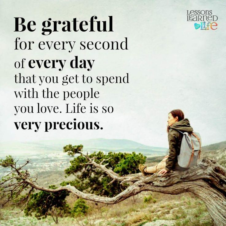 Be grateful for people