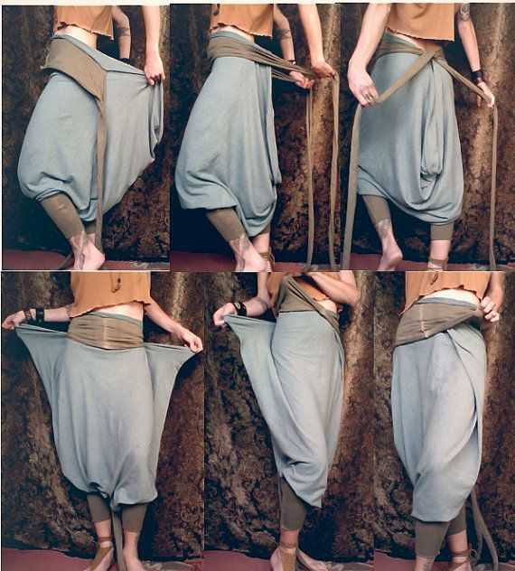 harem pants / romper organic cotton/ hemfap by RunWithTheTribe, $144.00
