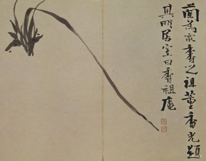 (Korea) Orchids of the Four Gentlemen by Kim Jeong-hi (1786- 1856).