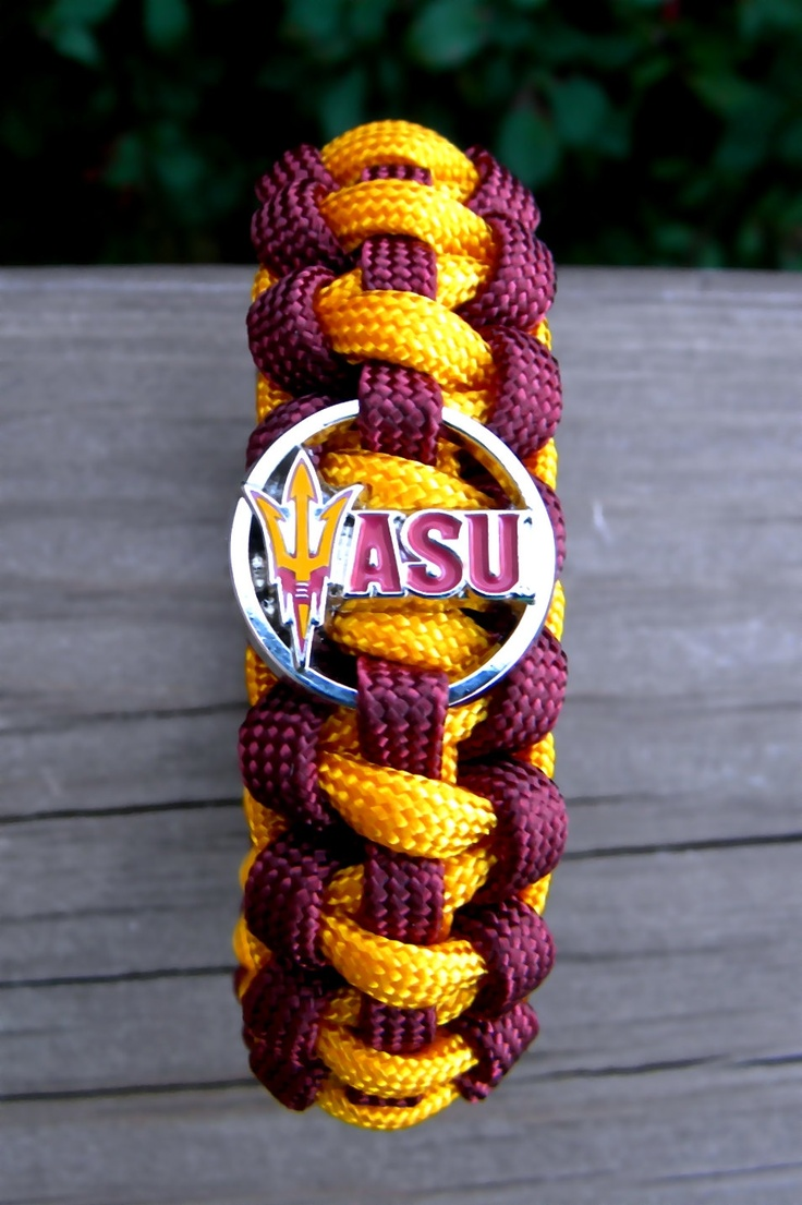 Arizona State Sun Devils Paracord Bracelet with by knotcreations, $16.50