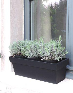 Jardinière rectangulaire (par 2) zinc noir mat decoclico Jardin
