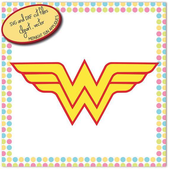 Wonder woman logo SVGDXFclipartvectorwonder woman cut